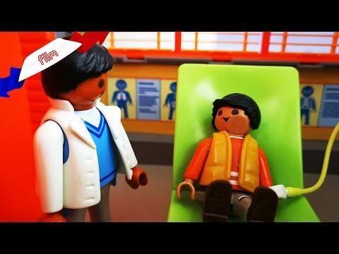 Film dentiste Playmobil en français   Anesthésie Générale! Jonas se fait opérer des dents de sagesse