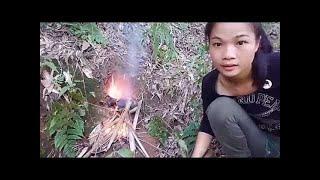 直播录像2抓到些小鱼日常生活聊会天 Live video Catch some fish Daily life , a Chinese girl's wilderness survival thumbnail