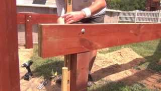Pool Deck Building: Setting Beams