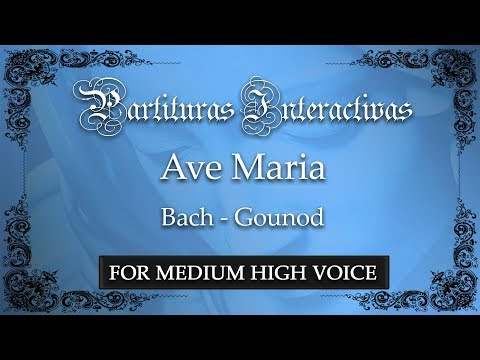 Ave Maria - Bach/Gounod (Karaoke - Key: E-flat major)
