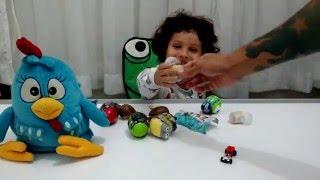 Galinha pintadinha bota ovos surpresa - Transformers, Hot Wheels, McQueen, Ben 10 e mais