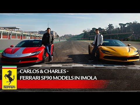 Carlos & Charles - Ferrari SF90 models in Imola