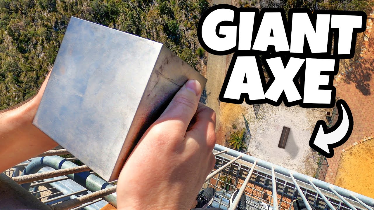 TUNGSTEN CUBE Vs. GIANT AXE From 45m!