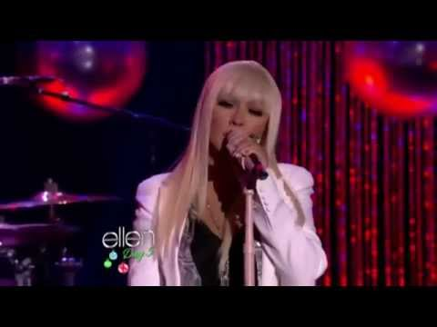 Christina Aguilera with Blake Shelton Perform 'Just a Fool' on ellen (LIVE)