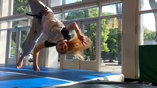 Parkour training, train hard but also have fun!
