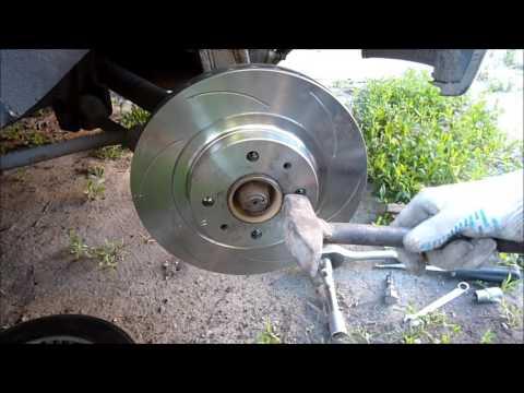замена переднего тормозного диска и колодок ВАЗ 2110 - Смешные видео приколы