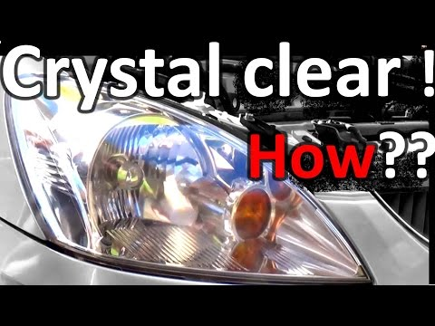 How to Restore Headlights crystal clear