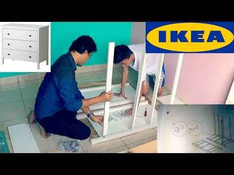How To Assemble IKEA HEMNES 3 drawer Chest