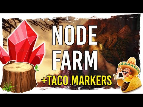 Guild Wars 2 - Rich Nodes and Gardens Farming Routes with TacO Markers thumbnail