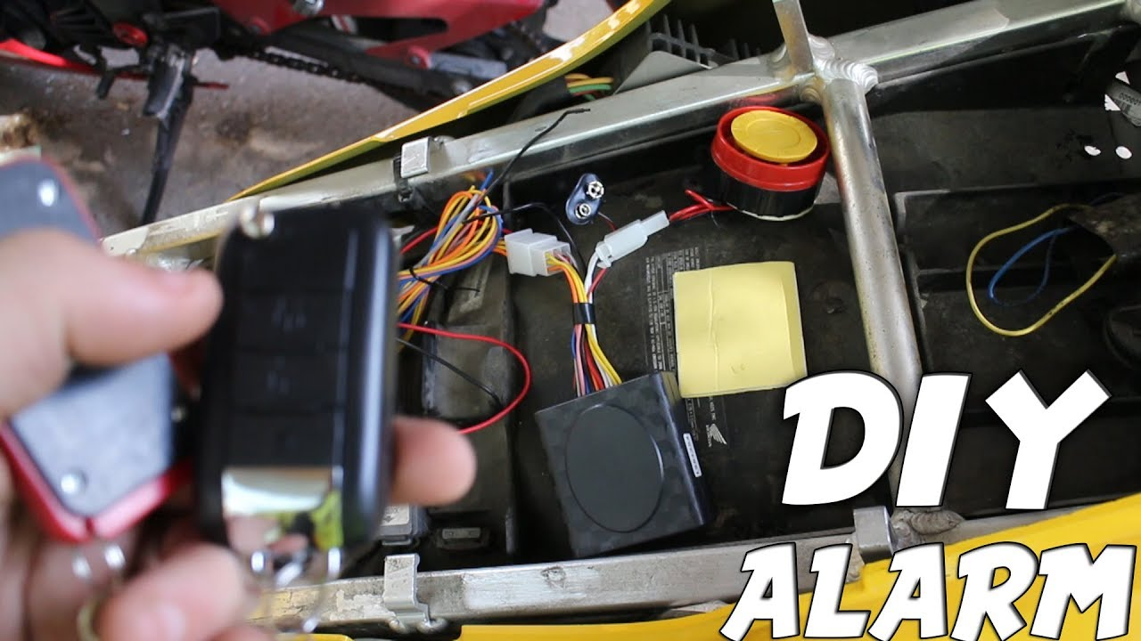 How To Install Cheap Motorcycle Alarm    Under 20   Easy