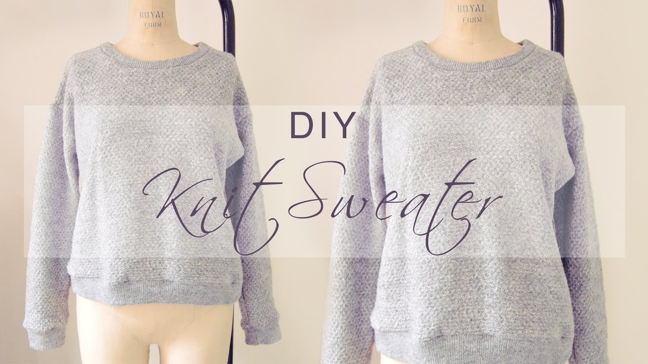 e073848a7 DIY Quick Knit Sweater ❄ - YouTube