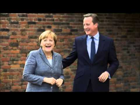 David Cameron and Angela Merkel discuss EU's future