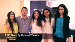 Lebanon Team: 2013 winners of The Quest by Unilever talk about their experience