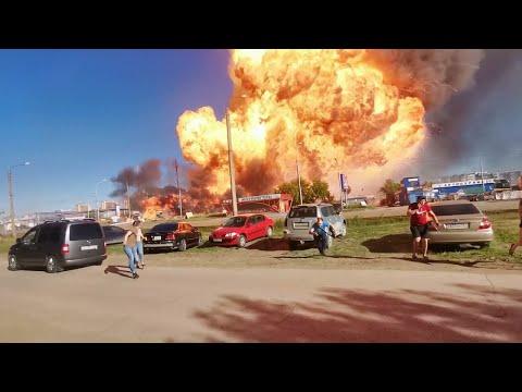 Gas Station Explodes in Novosibirsk    ViralHog