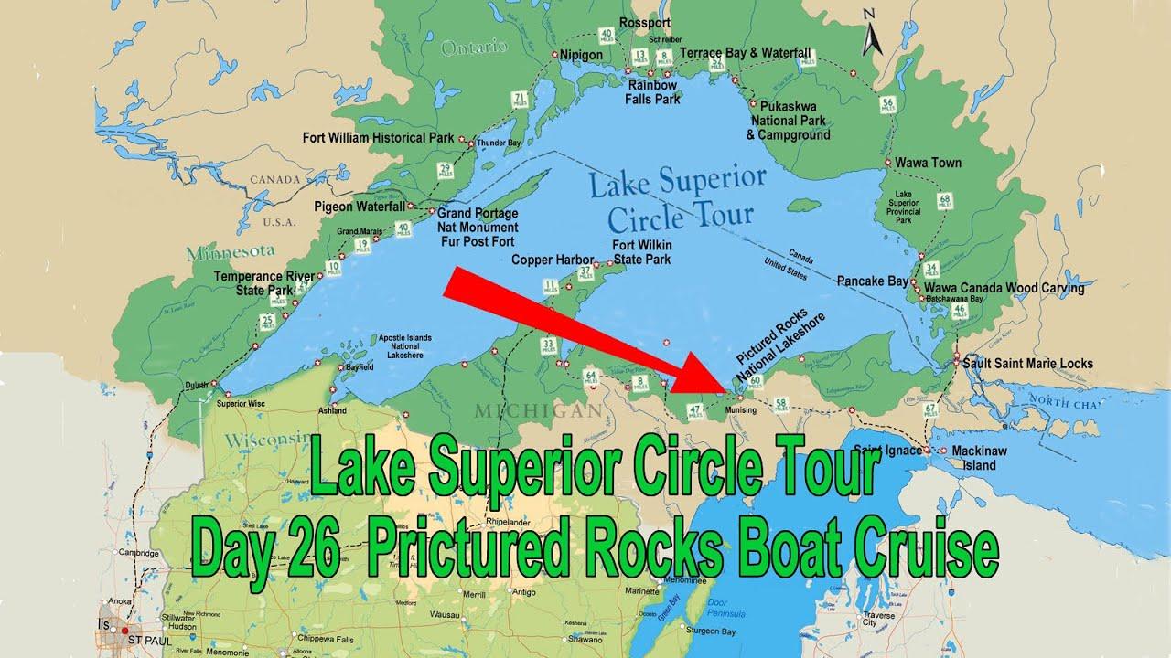 Pictured Rocks Boat Cruise Michigan July Lake Superior Circle - Lake michigan circle tour map