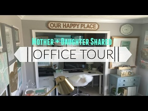 Room Tour: Mom/Daughter Shared Office Space