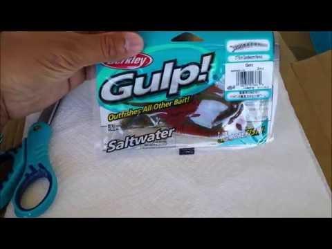 surf fishing tips - drying gulp sandworms bait