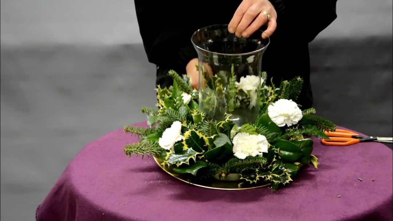 How To Make Your Own Christmas Table Arrangement