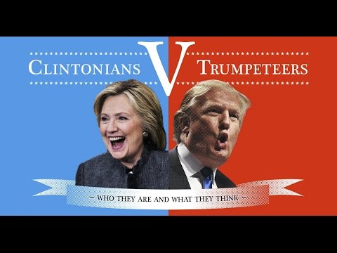 usa election 2016 Hillary Clinton VS Donald Trump