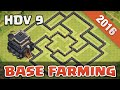 TOP Base Farming HDV 9 Defense TH 9 Clash Of Clans Français