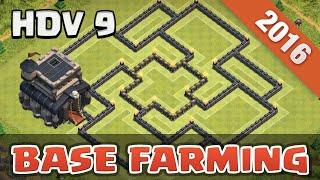 top base farming hdv 9 defense   th 9   clash of clans franais