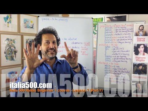 Learn Italian - Italia 500 Italian Beginner 1 course - Lesson 7 (Preview)