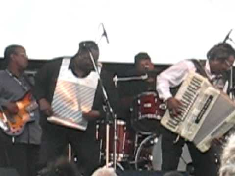 Buckwheat Zydeco getting down at 2010 Kitchener Blues Festival 2