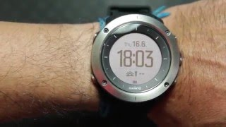 suunto traverse black UNBOXING  LIGHT DEMO IN DARK