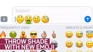 New emojis let you throw shade with style