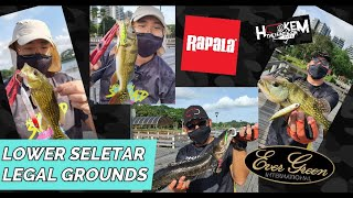 Lower Seletar Reservoir Fishing Deck Topwater blowup LEGAL grounds Peacock bass fishing
