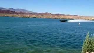 DCB Performance Boats Lickity Split delivery on Lake Havasu.