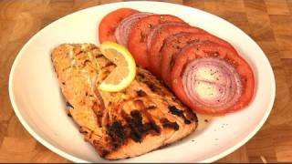 Mustard Encrusted Salmon With Tomato And Onion Salad