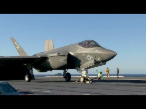 F-35C Lightning II Catapult Launch On Aircraft Carrier USS Nimitz