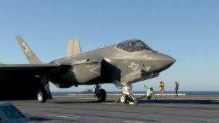 F-35C Lightning II Catapult Launch On Aircraft Carrier USS Nimitz