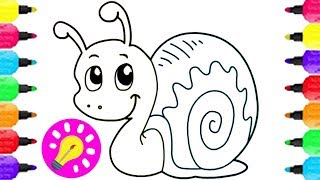 HOW to Draw a SNAIL for Kids | Best Coloring Pages | Drawing and #Coloring Pages for Children