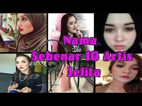 Nama Sebenar 10 Artis Jelita