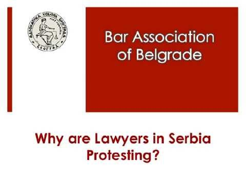 Lawyers Protest in Serbia