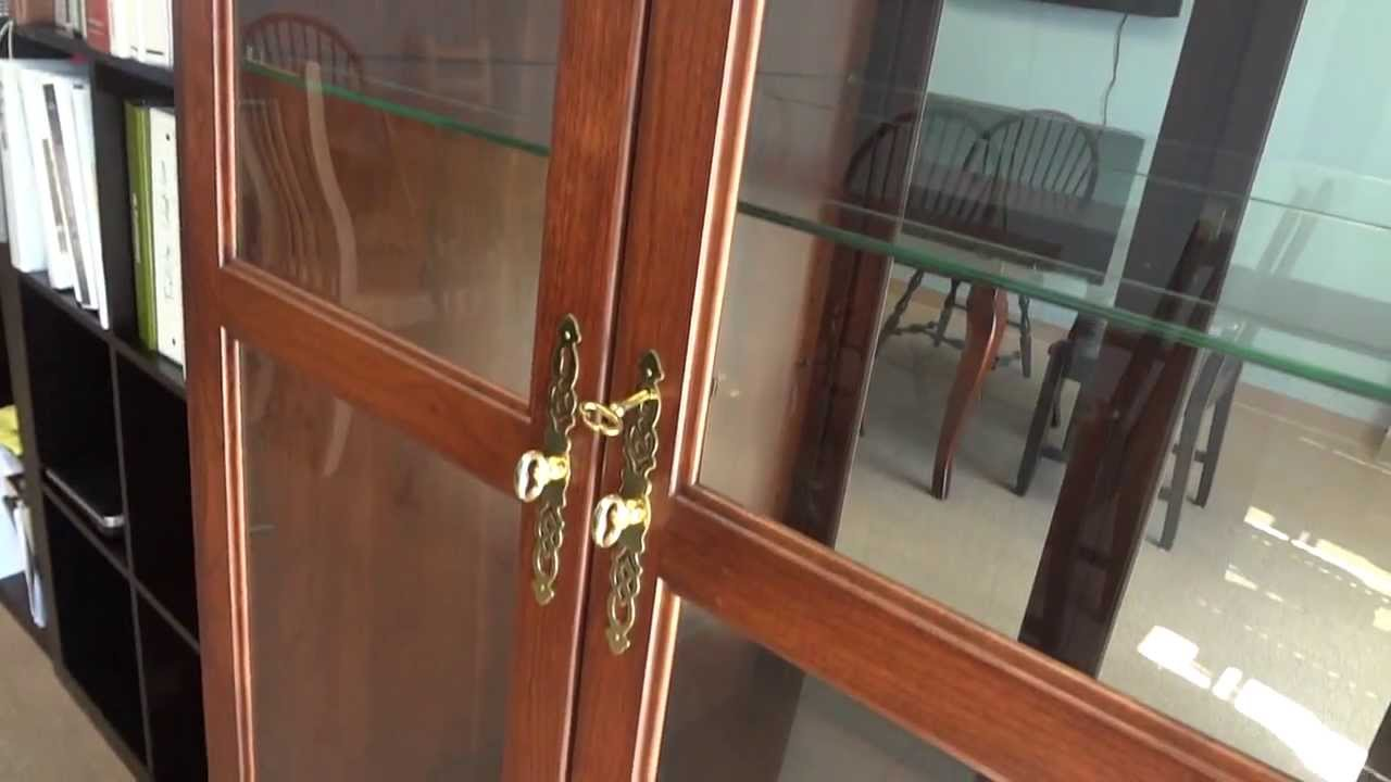 Amish Double Door Picture Frame Curio Cabinet Id3059 Youtube