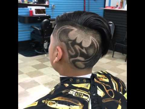 batman superman hair cut design