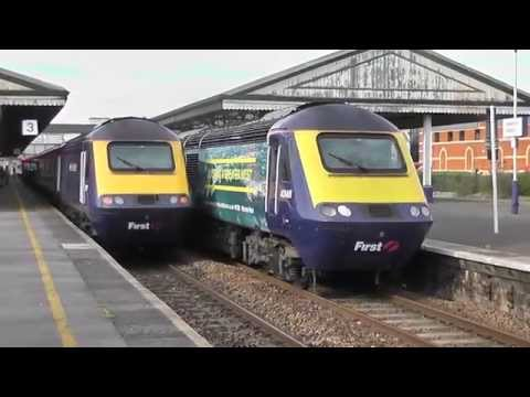 FGW Advertizing powercars 43146 and 43163 on the 'vinyl express' 19-04-2015(HD)