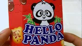 Hello Panda Choco Creme Unwrapping And Review