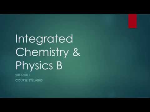 Syllabus Review: Integrated Chemistry & Physics B