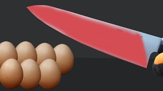 EXPERIMENT Glowing 1000 degree KNIFE VS EGGS