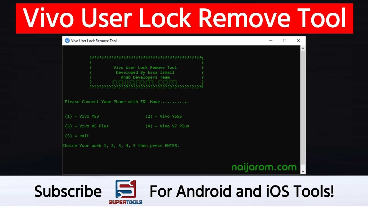 Vivo User Lock Remove Tool - Best Vivo Lock Remover 2019