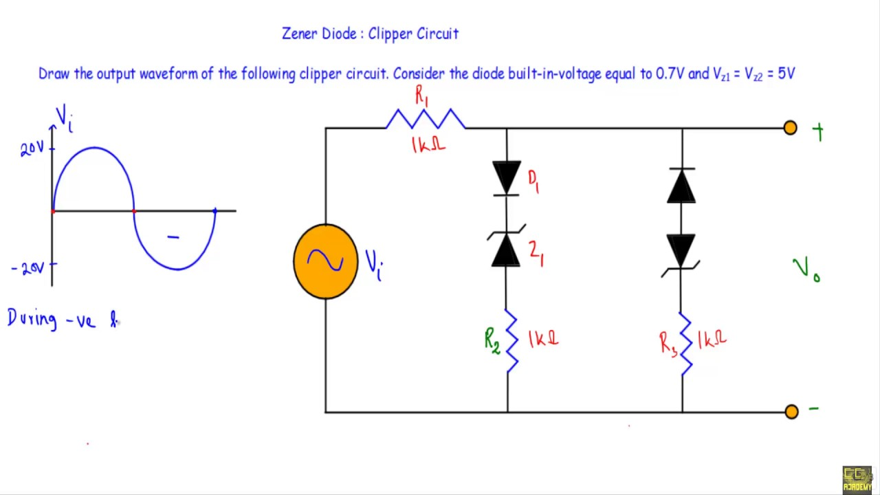 Zener diode clipper circuit with simulation very hard w zener diode clipper circuit with simulation very hard w subtitle pooptronica Gallery