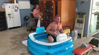 Hot Sauna / Cold Ice Therapy For Workout #Recovery