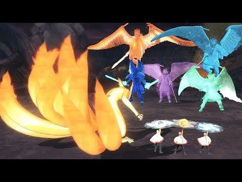 Naruto Uzumaki & Kurama vs All Uchiha Susanoo - Naruto Ultimate Ninja Storm 4 Road to Boruto