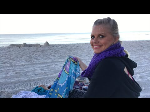 Yarn on the Beach 003 Sunrise on the Beach and Crochet on Fabric