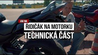 Řidičák na motorku - technická část na cvičišti
