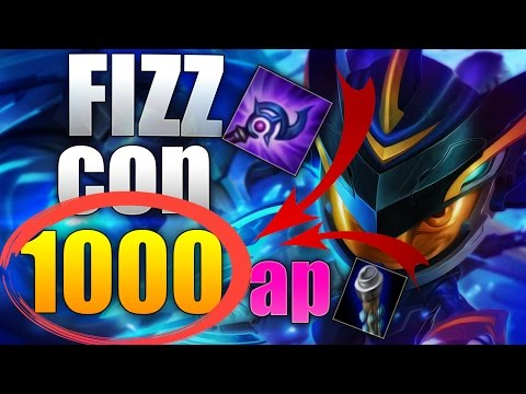 FIZZ CON 1000 DE AP Y PASA ESTO / league of legends - lol - 2017